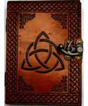 "5"" x 7"" Triquetra leather w/ latch"