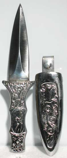 Boot Silver Coated athame