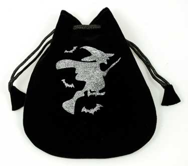 Witch Velveteen Drawstring Bag