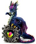 "5 1/4"" Dragon with multi colored crystal"