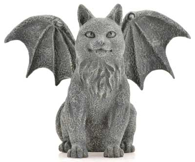 Winged Cat Gargoyle 6 1/2""